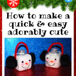 How to Make Really Cute Snowman Ornament Craft DIY Tutorial