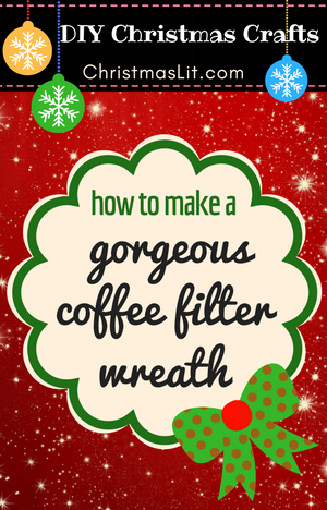 How to Make a Gorgeous Coffee Filter Wreath Tutorial