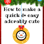 How to Make a Really Cute Snowman Ornament Craft DIY Tutorial