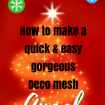 How to make a quick and easy deco mesh angel tutorial