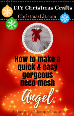 How to make a quick and easy deco mesh angel tutorial DIY
