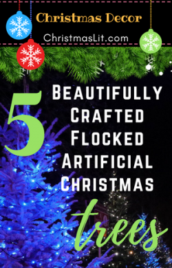 Flocked Artificial Christmas Trees