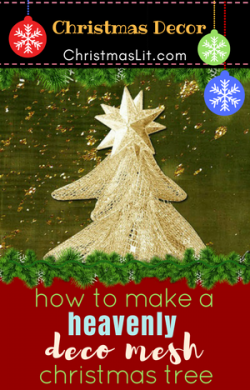 How to Make a Marvelous Deco Mesh Christmas Tree Tomato Cage Video Tutorial