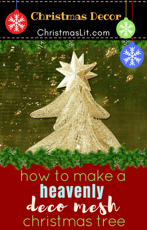 how to make a marvelous deco mesh christmas tree with a tomato cage video diy