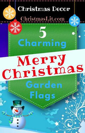 Merry Christmas Garden Flags