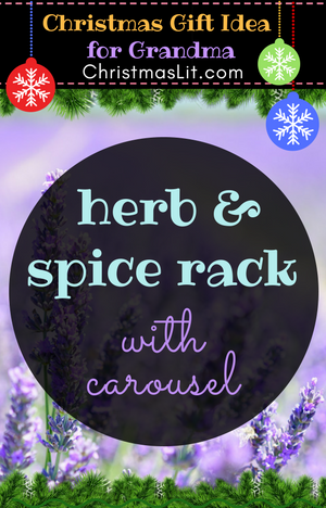 Herb and Spice Rack with carousel Christmas gift idea grandma