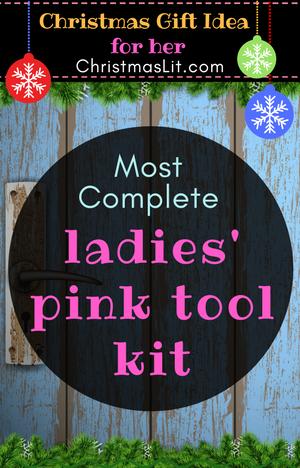 Ladies Pink Tool Kit most complete toolset